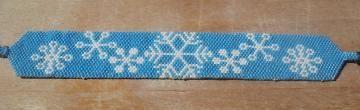 Blue #Snowflake #handmade #beadedBracelet by #Michellescustomjewelry for $20.00