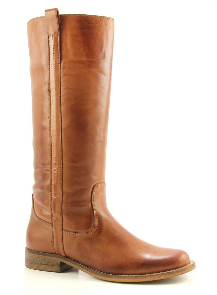 Online Shoes 1419 bruine platte laarzen. Bij Sooco.nl.