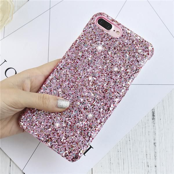 KISSCASE Bling Paillettes Hard PC Case For iPhone 6 6s Plus Luxury Glitter Sequin Phone Cases For iPhone 7 7 Plus Coque Cover