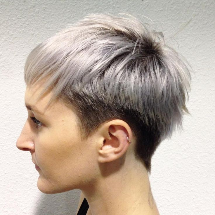 Black And Silver Tapered Pixie