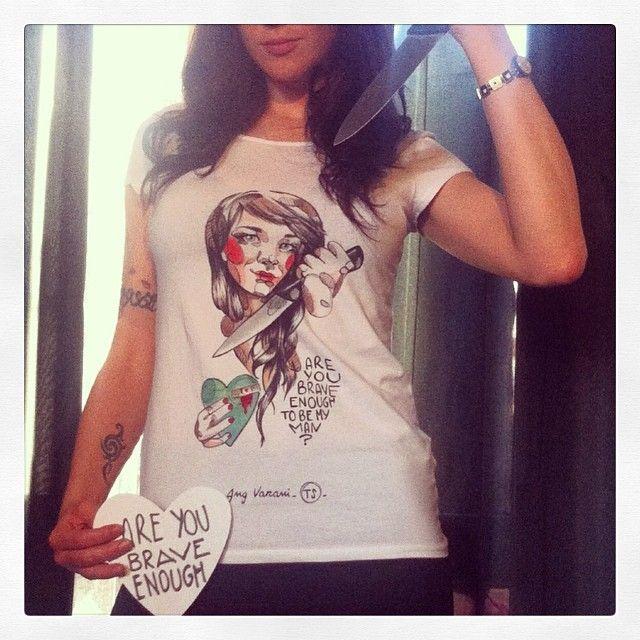acting out the TShirt!  -Ang Varani TS- #handmade #new #ts #tshirt #etsy #shop #happiness #art #angvarani #fashion #angelavarani #milan #i...