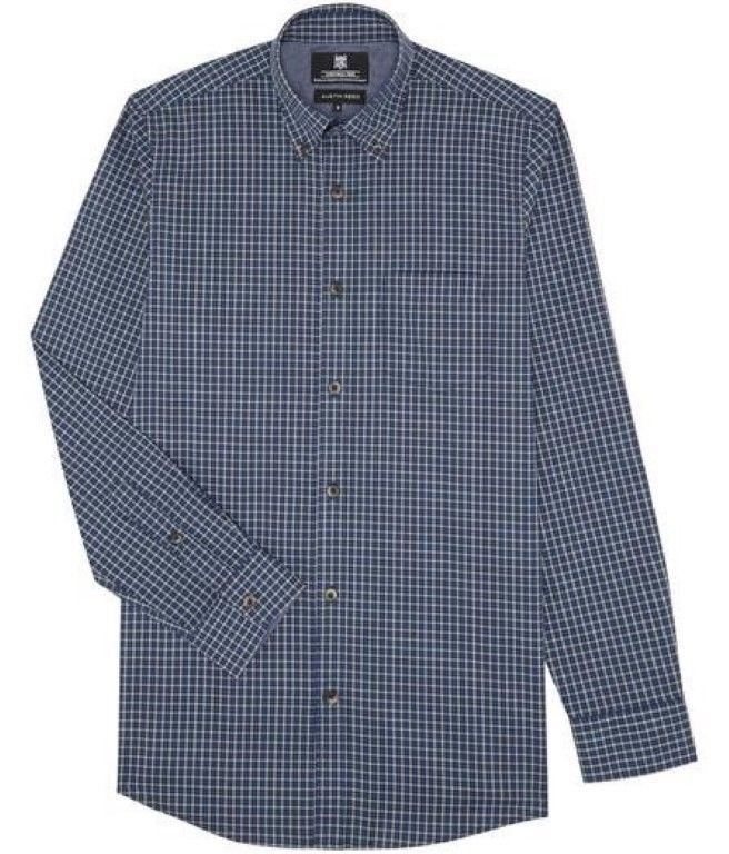 Mens Austin Reed Blue Multi Check Wrinkle Free Shirt Medium Rrp 65 Box56 11 N Fashion Clothing Shoes Accessories Shirts Checked Flannel Shirt Free Shirts