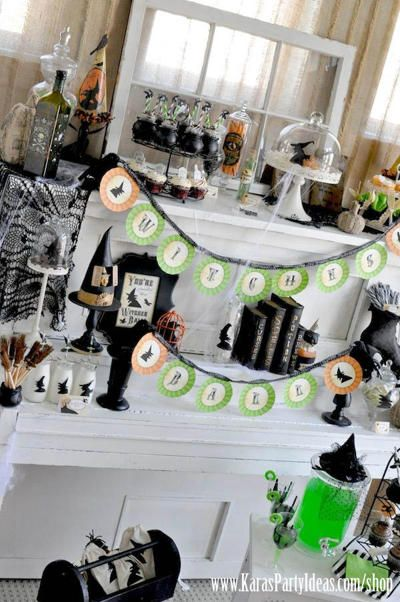 witch themed decorations halloween
