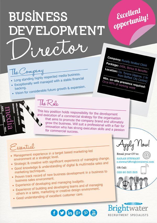 12 best images about Visual Job Descriptions – Development Director Job Description