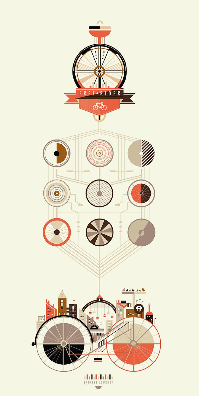 2011 Magazine entry for Album - 'Bicycle Journeys' by Petros Afshar, original on http://www.behance.net/gallery/Free-Rider/2069726