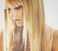 love straight long hair with fringe {Rustic Beauty}