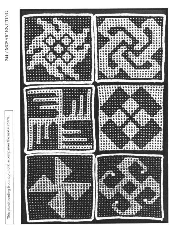 Mosaic Knitting Barbara G. Walker (Lenivii gakkard) Mosaic Knitting Barbara G. Walker (Lenivii gakkard) #248