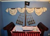 pirate baby room -   Add a mermaid reaching for the ship......