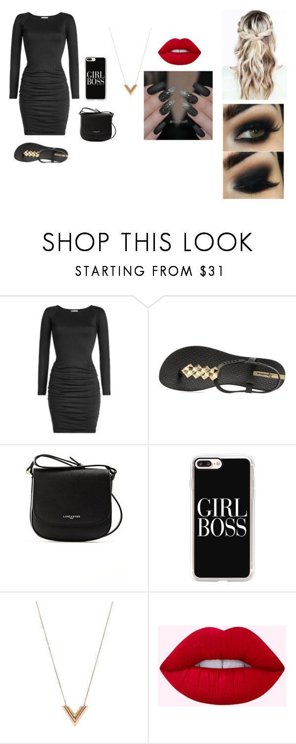 """""""Casual Date"""" by kayla-owen ❤ liked on Polyvore featuring Velvet, IPANEMA, Lancaster, Casetify and Louis Vuitton"""