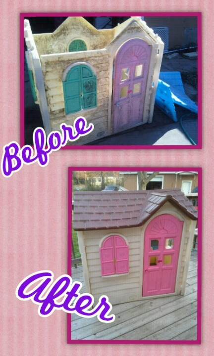 1000+ ideas about Painted Playhouse on Pinterest | Kids plastic playhouse, Painting plastic and ...