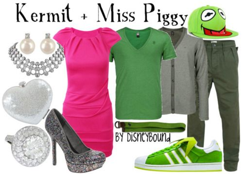 dress like your favorite disney character: Kermit & Miss Piggy