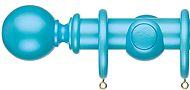 Regency Pearlescent 35mm & 48mm Wood Curtain Pole, Marine Blue