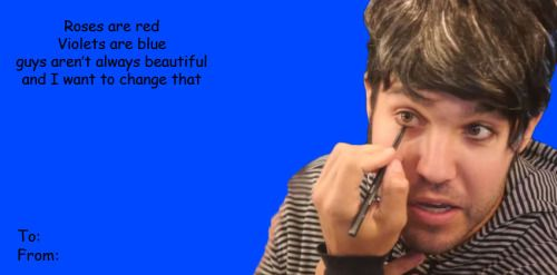 """andytheleadsingeroffalloutboy: """" Drunk History of Fall Out Boy Valentine's Cards """""""
