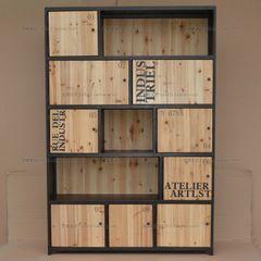 Американская страна кованой деревянный вход чердак зал шкафчики кабинет суб-промышленный стиль