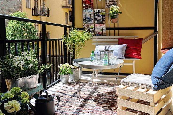 Ideas For, Decoration Blog, Pisos De, Balconies Gardens, Interiors, Outdoor Room, Nice Balconies, Luminoso Pisos, De 62M