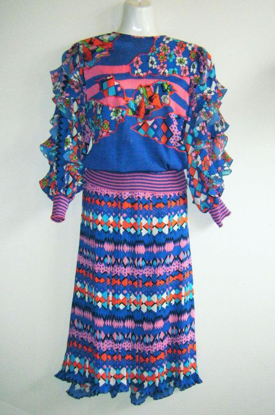 A comfy knit dress is perfect for balancing work and home life, like any super-mom of the 1980's should!