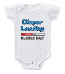 Kiditude - Diaper Loading Funny Baby Onesie $16.95 Read more: http://www.kiditude.com/catalog/funny-baby-clothes/diaper-loading-funny-baby-onesie-523.html