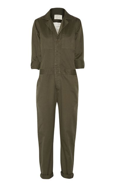 The Jumpsuit, Current/Elliott mechanic cotton-twill jumpsuit / Garance Doré