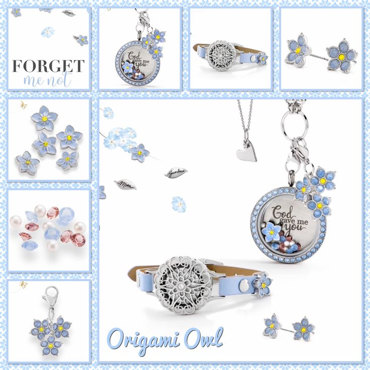 Origami Owl. Forget Me Not collection, arriving 4/7/17! www.CharmingLocketsByAline.OrigamiOwl.com