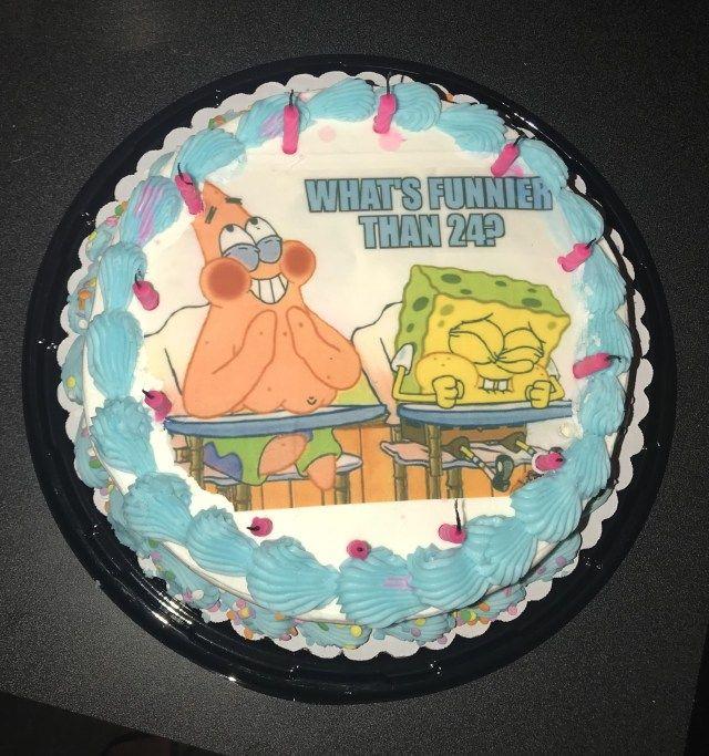 27 Creative Photo Of 25th Birthday Cake Spongebob Birthday Cake