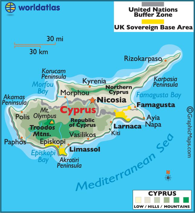 Cyprus......closer to Asia geographically, but culturally closer to Europe.