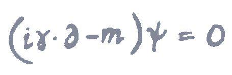 Esa es parte de la ecuación de Dirac. Gracias a esto, se describe el fenómeno de entrelazamiento cuántico.