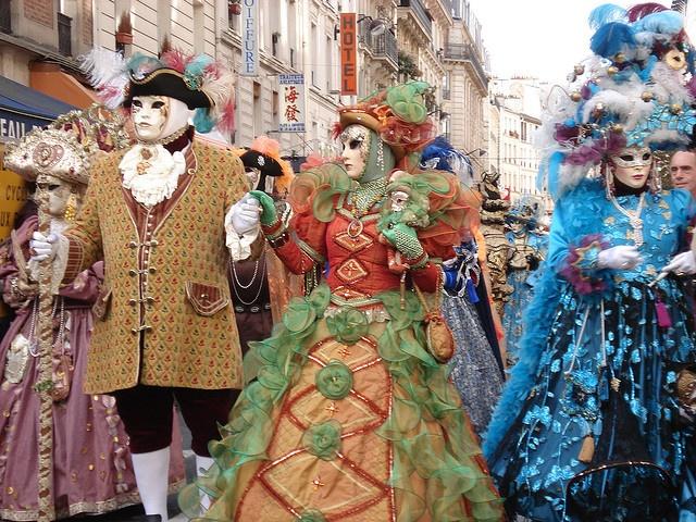 #colourful costumes at the Fete des Vendanges, Montmartre, Paris 2009. #FriFotos