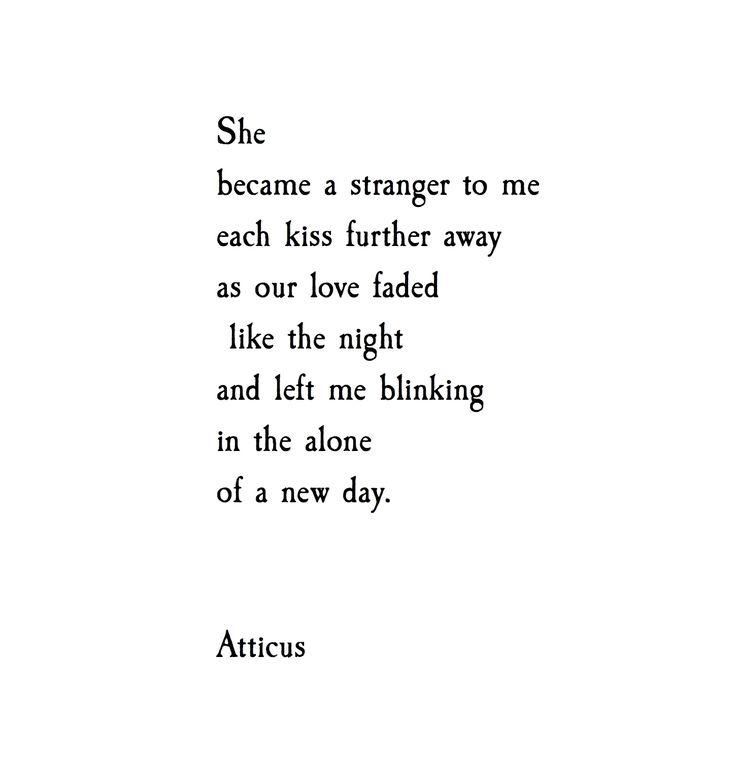 'Blinking' #atticuspoetry #atticus #poetry #alone