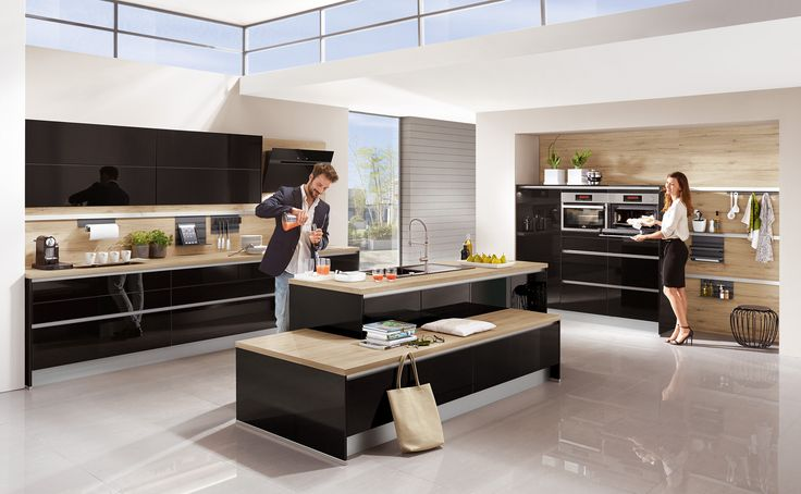 focus kitchen now available in stunning black high gloss lacquer price guide 15000 to 20000 - Nobilia Kuchen Preisliste