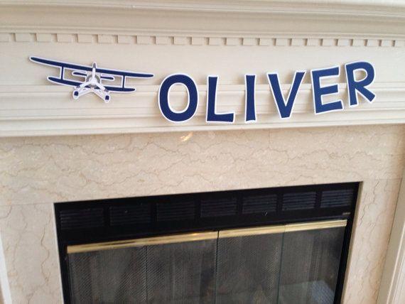 Vintage airplane name banner vintage airplane by HandmadeByVee