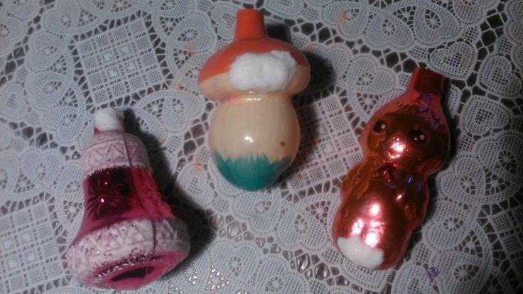 3 игрушки-починяшки Все по-старому: кусочек марли на суперклее, сверху ПВА…