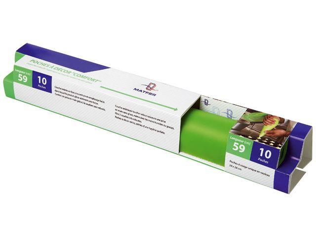 Poches à douille jetables Comfort (x 10) lg 59 cm - Meilleur du Chef