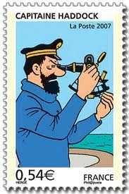 Captain Haddock of Tintin with a ship's sextant • sailing ship high seas
