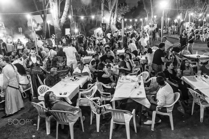 Entertainment - Entertainment time in Greece. Nightlife and people concept