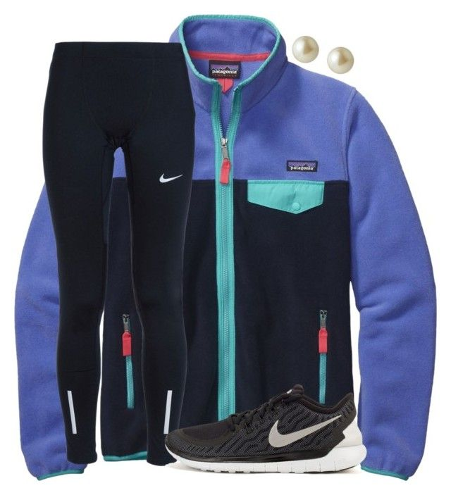 """Tennis match today:)"" by emmagracejoness ❤ liked on Polyvore featuring Patagonia, NIKE and Carolee"