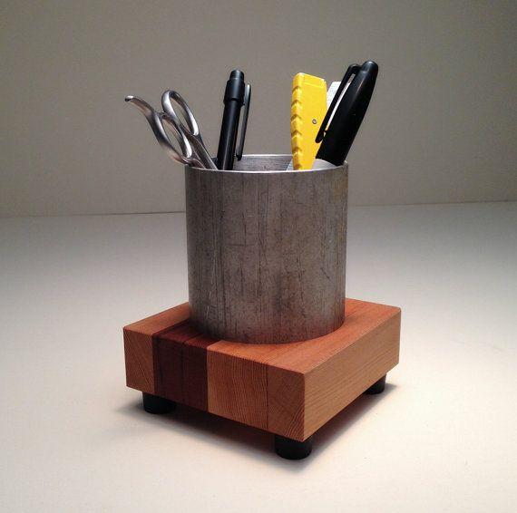 Industriellen Stil Bleistift Inhaber - Bleistift-Cup - Schreibtisch Zubehör - Office Decor - Büroorganisation - Pen Cup - Desktop Organizer