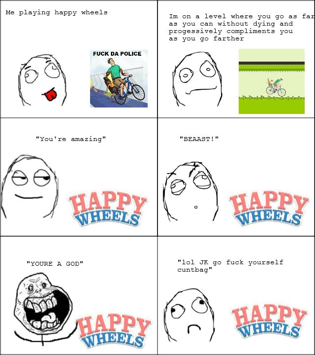 happy wheels d