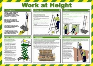 WORK AT HEIGHT HEALTH AND SAFETY POSTER