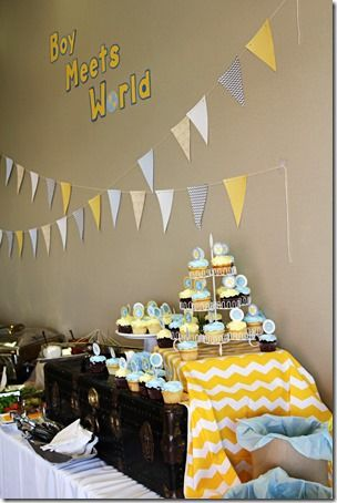 Boy Meets World party theme!  Great for sip and see's and baby showers