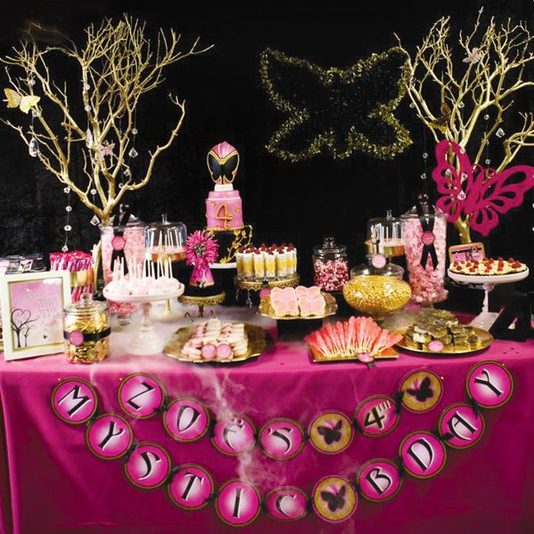 I am in awe over the awesomeness and cuteness of this pink power ranger party.