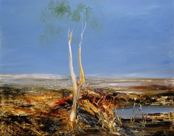 Landscape with Gumtree, 1964, Sir Sidney Nolan