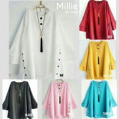 Beli Baju Atasan Millie Blouse Bahan Katun Unik - http://www.butikjingga.com/baju-atasan-millie-blouse-bahan-katun
