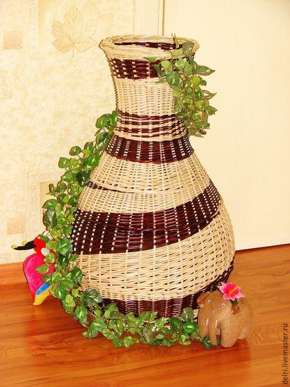 Вазы ручной работы. Ярмарка Мастеров - ручная работа. Купить Ваза плетёная напольная. Handmade. Лозоплетение, ваза, ваза для сухоцветов
