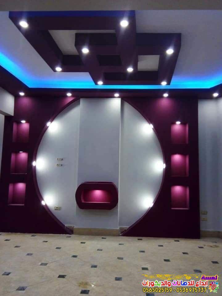 احدث ديكورات شاشات بلازما جبس بورد بجده 2019 Pop Ceiling Design House Ceiling Design Ceiling Design Modern