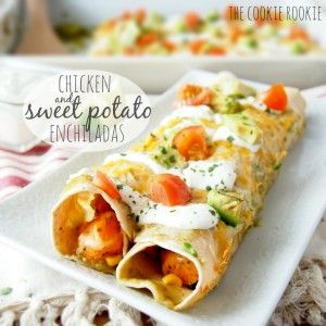chicken & sweet potato enchiladas   Save Print sweet potatoes and chicken mixed for a fresh, savory take on this favorite mexican dish A...