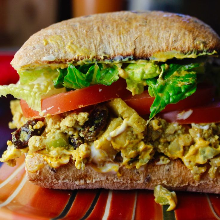 Curried Tempeh Salad Sandwich