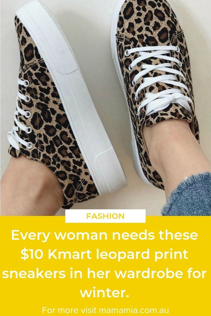 these $10 Kmart leopard print sneakers