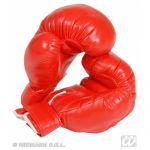 Par de guantes boxeo profesional para disfraces de boxeador o lo que tu quieras. Composición: Napay espuma.