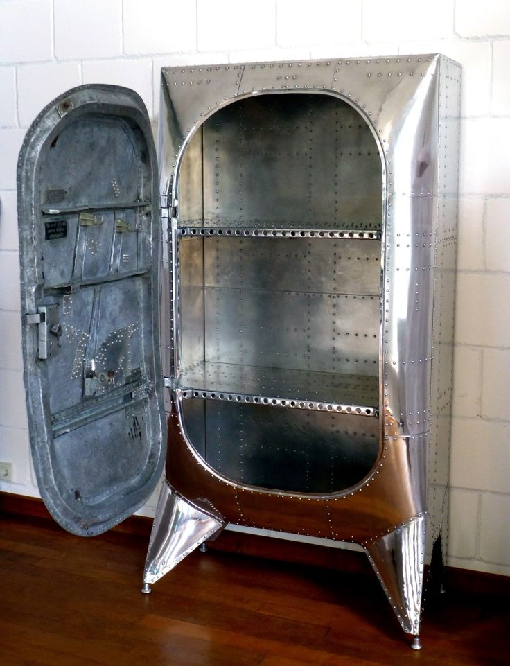Cabinet made from an old aircraft door