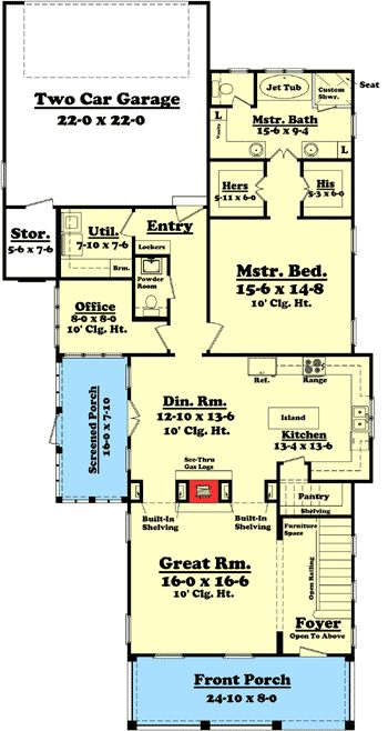 Plan 11775HZ 3 Bedroom Narrow Lot House Plan carpentry House
